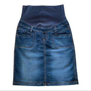 Thyme Jeans Maternity Classic Jean Skirt Medium